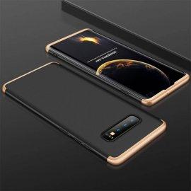 Funda 360 Samsung Galaxy S10 Plus Dorada y Negra