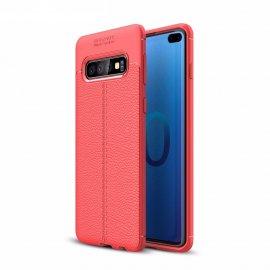 Funda Samsung Galaxy S10 Plus Tpu Cuero 3D Roja