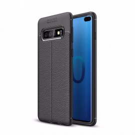 Funda Samsung Galaxy S10 Plus Tpu Cuero 3D Negra