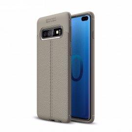 Funda Samsung Galaxy S10 Plus Tpu Cuero 3D Gris