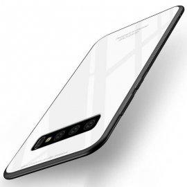 Funda Samsung Galaxy S10 Plus Tpu Blanca Trasera Cristal