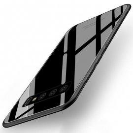 Funda Samsung Galaxy S10 Plus Tpu Negra Trasera Cristal