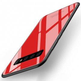 Funda Samsung Galaxy S10 Plus Tpu Roja Trasera Cristal