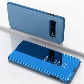Funda Libro Smart Translucida Samsung Galaxy S10 Plus Azul