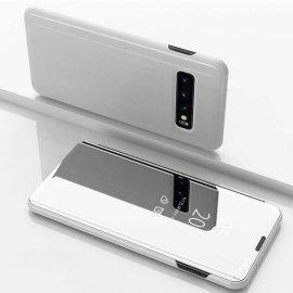 Funda Libro Smart Translucida Samsung Galaxy S10 Plus Plata