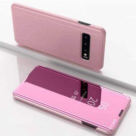 Funda Libro Smart Translucida Samsung Galaxy S10 Plus Rosa
