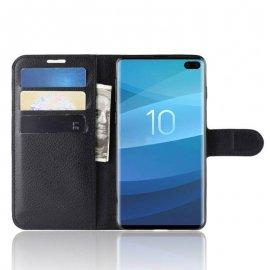 Funda Libro Samsung Galaxy S10 Plus Soporte Negra
