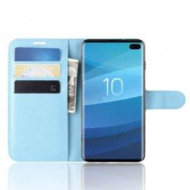 Funda Libro Samsung Galaxy S10 Plus Soporte Azul