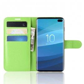 Funda Libro Samsung Galaxy S10 Plus Soporte Verde