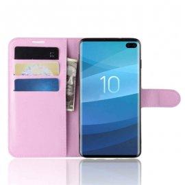 Funda Libro Samsung Galaxy S10 Plus Soporte Rosa
