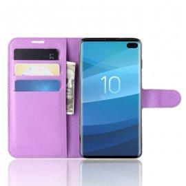 Funda Libro Samsung Galaxy S10 Plus Soporte Lila