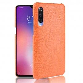 Carcasa Xiaomi MI 9 SE Cuero Estilo Croco Naranja