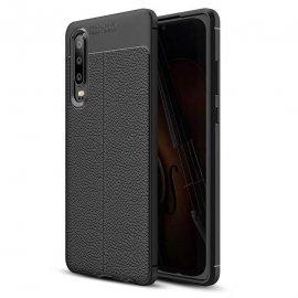 Funda Huawei P30 Tpu Cuero 3D Negro