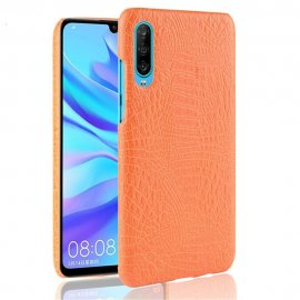 Carcasa Huawei P30 Cuero Estilo Croco Naranja