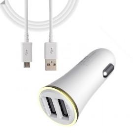 Cargador de Coche Doble Micro USB 3400mAh