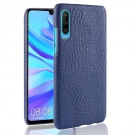 Carcasa Huawei P30 Cuero Estilo Croco Azul
