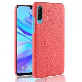 Carcasa Huawei P30 Cuero Estilo Croco Roja