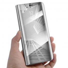 Funda Libro Smart Translucida Huawei P30 Plateada