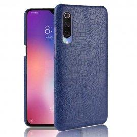 Carcasa Xiaomi MI 9 Cuero Estilo Croco Azul