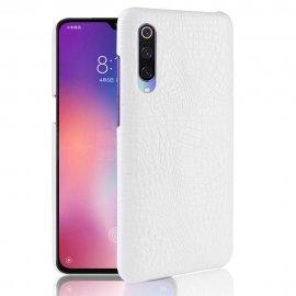 Carcasa Xiaomi MI 9 Cuero Estilo Croco Blanco