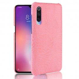 Carcasa Xiaomi MI 9 Cuero Estilo Croco Rosa