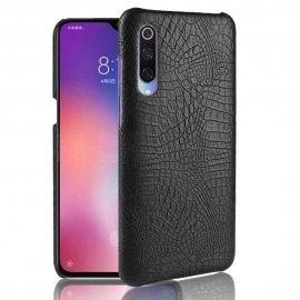 Carcasa Xiaomi MI 9 Cuero Estilo Croco Negra