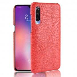 Carcasa Xiaomi MI 9 Cuero Estilo Croco Roja