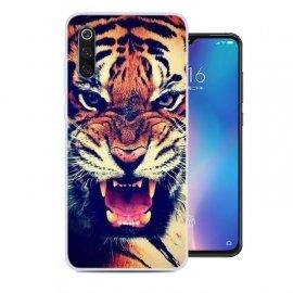 Funda Xiaomi MI 9 Gel Dibujo Tigre