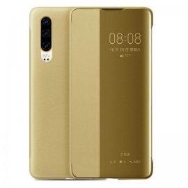 Funda Libro Smart View Huawei P30 Dorada