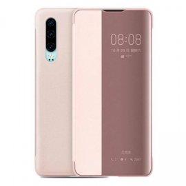 Funda Libro Smart View Huawei P30 Rosa