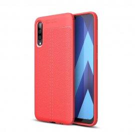 Funda Samsung Galaxy A50 Tpu Cuero 3D Roja