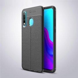 Funda Huawei P30 Lite Tpu Cuero 3D Negra