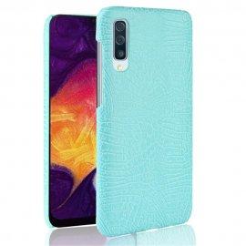 Carcasa Samsung Galaxy A50 Cuero Estilo Croco Turquesa