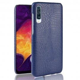 Carcasa Samsung Galaxy A50 Cuero Estilo Croco Azul
