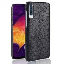Carcasa Samsung Galaxy A50 Cuero Estilo Croco Negra