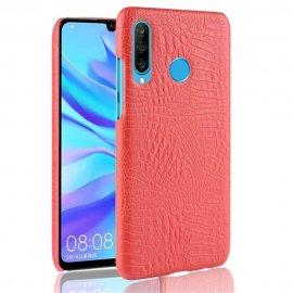 Carcasa Huawei P30 Lite Cuero Estilo Croco Roja
