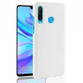 Carcasa Huawei P30 Lite Cuero Estilo Croco Blanca