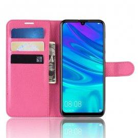 Funda Libro Huawei P30 Lite Soporte Fucsia