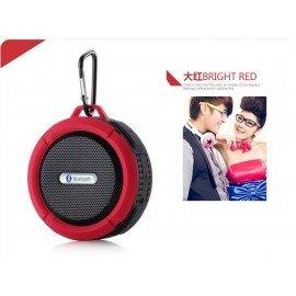 Altavoz Bluetooth Waterproof Rojo C6