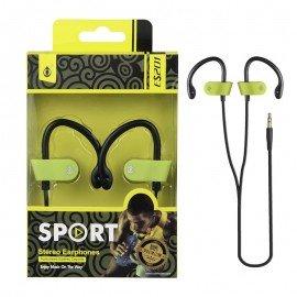 Auriculares Deporte ES201 Verde Premium