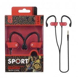 Auriculares Deporte ES201 Rojo Premium
