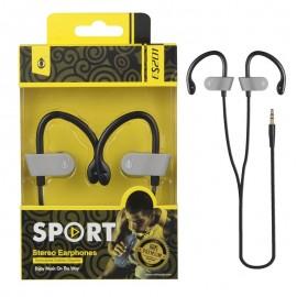 Auriculares Deporte ES201 Amarillo Premium