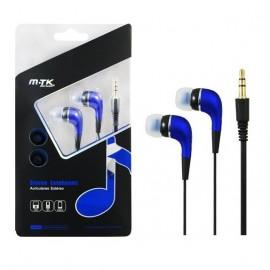 Auriculares MTK Azul in ear