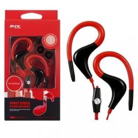 Auriculares Deporte MTK Rojo con Micro