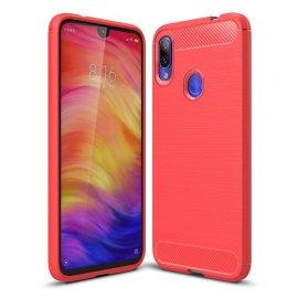 Funda Xiaomi Redmi 7 Tpu Carbono 3D Roja