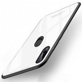 Funda Xiaomi Redmi 7 Tpu Trasera Cristal Blanca