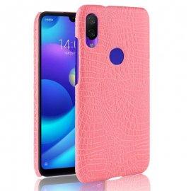 Carcasa Xiaomi Redmi 7 Cuero Estilo Cocodrilo Rosa