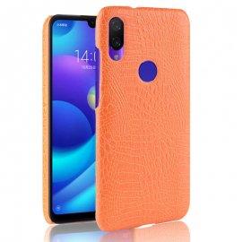 Carcasa Xiaomi Redmi 7 Cuero Estilo Cocodrilo Naranja