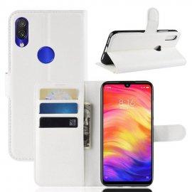 Funda Libro Xiaomi Redmi 7 cuero Soporte Blanca