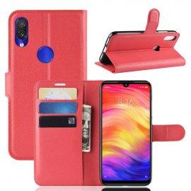 Funda Libro Xiaomi Redmi 7 cuero Soporte Roja